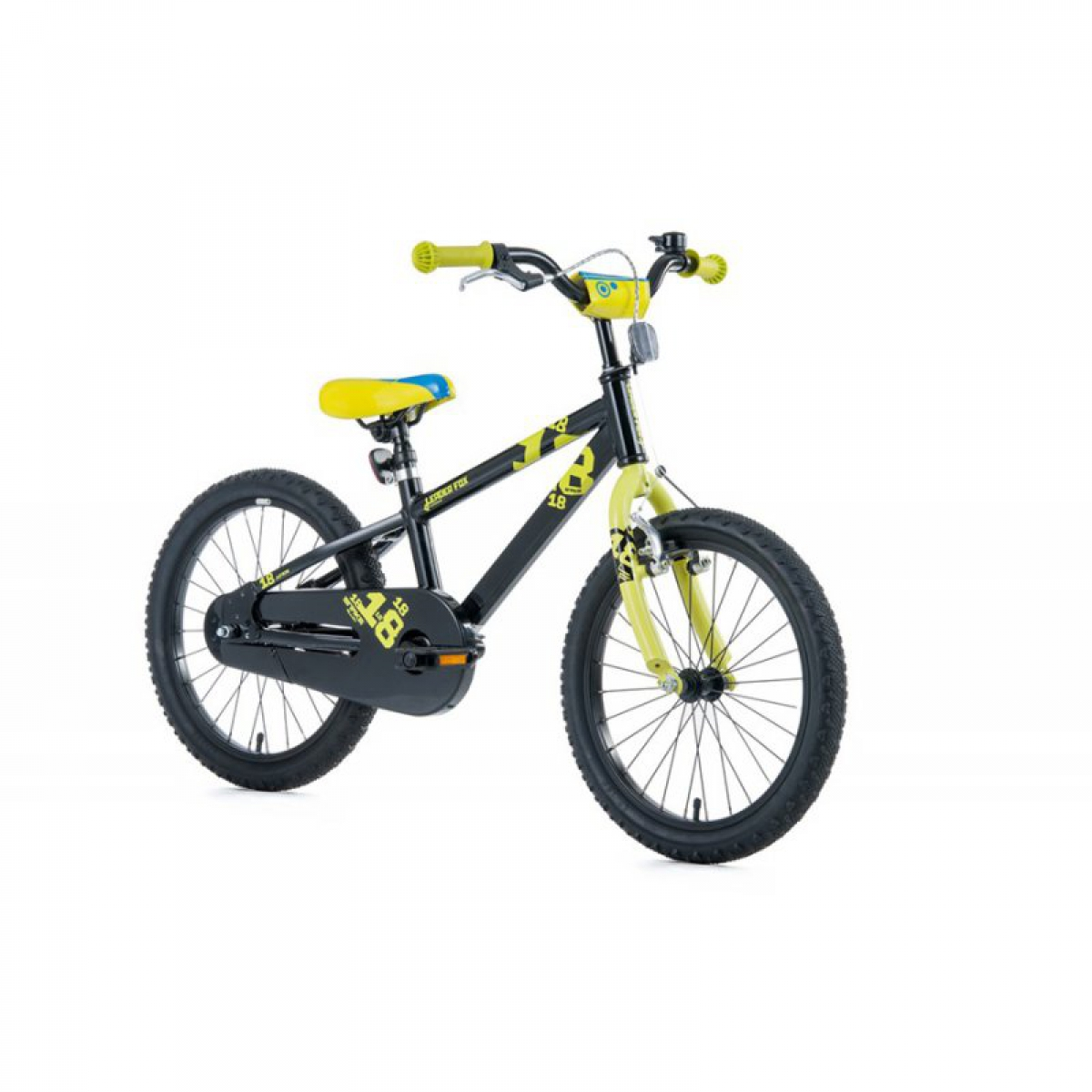 18 zoll aluminium fahrrad leader fox kinderrad snake boy mtb black schwarz ihr fahrrad online. Black Bedroom Furniture Sets. Home Design Ideas