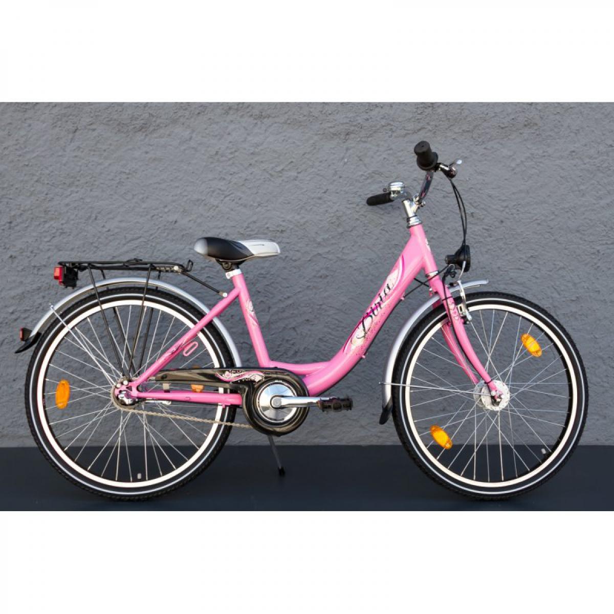 24 zoll mifa biria kinder m dchen fahrrad shimano 3 gang nabendynamo pink stvzo ihr fahrrad. Black Bedroom Furniture Sets. Home Design Ideas