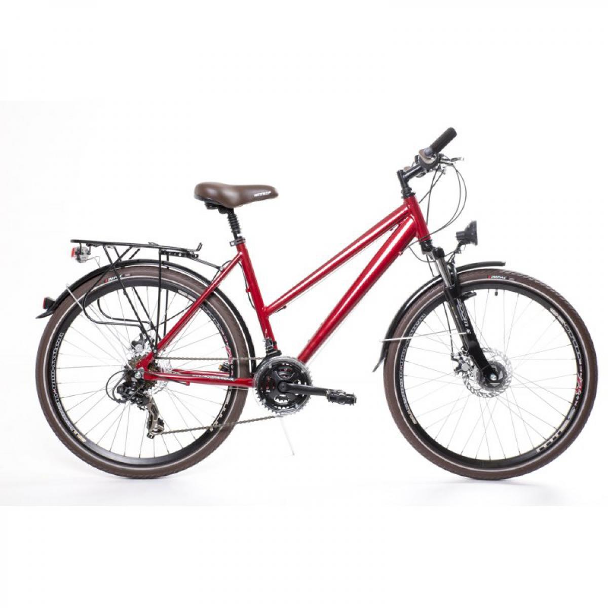 26 zoll alu trekking city fahrrad damen rad bike shimano 21 gang disc rot ebay. Black Bedroom Furniture Sets. Home Design Ideas