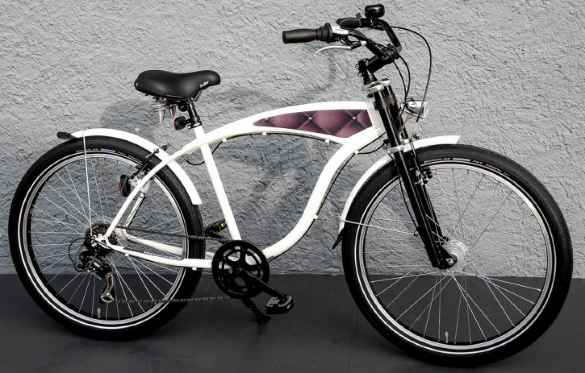 26 zoll mifa beach cruiser fahrrad shimano 7 gang nabendynamo fat frank leder ebay. Black Bedroom Furniture Sets. Home Design Ideas